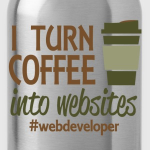 i turn coffee into code T-Shirts - Water Bottle