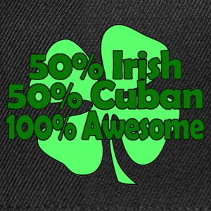 irish cuban awesome T-Shirts - Snapback Cap