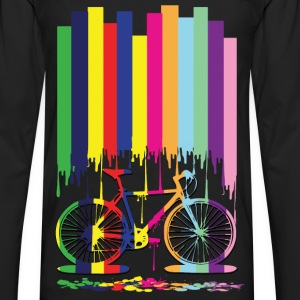 rainbow bicycle Men's Premium T-Shirt - Men's Premium Longsleeve Shirt