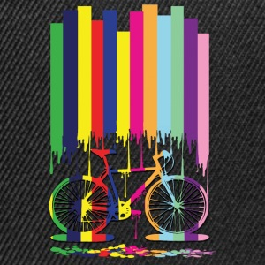 rainbow bicycle Men's Premium T-Shirt - Snapback Cap