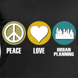 peace love urban planning T-Shirts - Men's Sweatshirt by Stanley & Stella