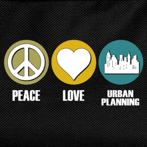 peace love urban planning T-Shirts - Kids' Backpack
