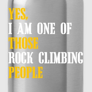 rock climbing people T-Shirts - Water Bottle