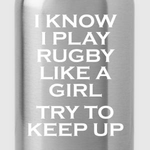 rugby like a girl T-Shirts - Water Bottle