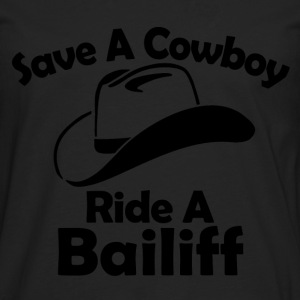 save a cowboy T-Shirts - Men's Premium Longsleeve Shirt
