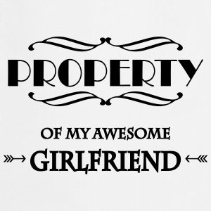Property of my awesome girlfriend T-skjorter - Kokkeforkle