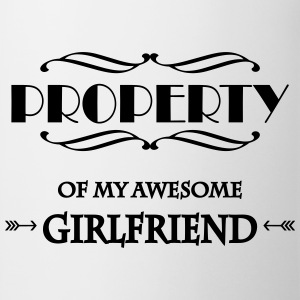 Property of my awesome girlfriend T-skjorter - Kopp
