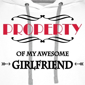 Property of my awesome girlfriend T-shirts - Mannen Premium hoodie