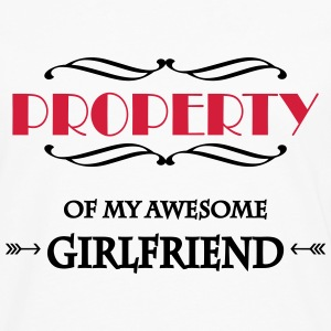 Property of my awesome girlfriend T-Shirts - Men's Premium Longsleeve Shirt