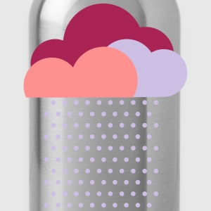 Purple clouds - colorful weather, rain, raindrops T-Shirts - Water Bottle