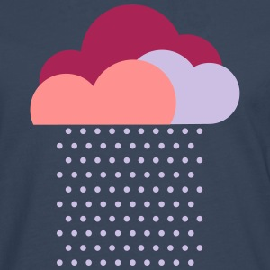 Purple clouds - colorful weather, rain, raindrops T-Shirts - Men's Premium Longsleeve Shirt