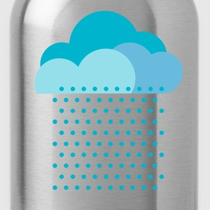 We love the rain! weather, cloud, raindrops, water T-Shirts - Water Bottle