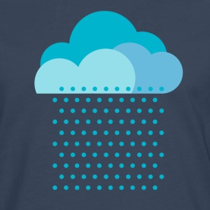 We love the rain! weather, cloud, raindrops, water T-Shirts - Men's Premium Longsleeve Shirt