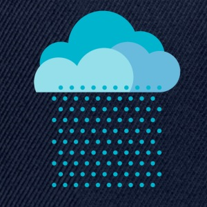 We love rain! weather, cloud, autumn, bike Tee shirts - Casquette snapback