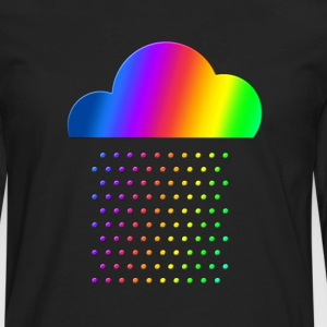 Colorful weather - we love rainbow rain! raindrop, T-Shirts - Men's Premium Longsleeve Shirt