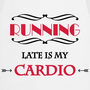 Running late is my cardio Manches longues - Tablier de cuisine