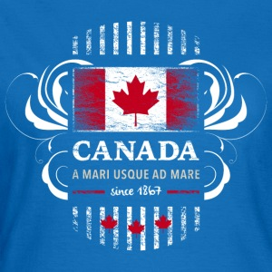 Canada Kanada Amerika maple leaf Flagge Fahne - Frauen T-Shirt