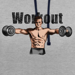 workout T-shirts - Contrast hoodie