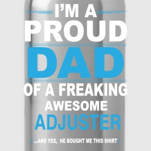 dad ADJUSTER son T-Shirts - Water Bottle