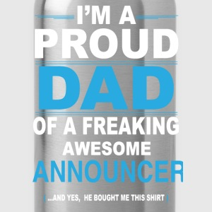 dad ANNOUNCER son T-Shirts - Water Bottle