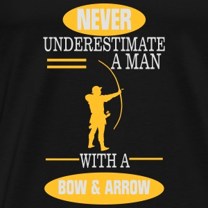 A MAN NEVER UNDERESTIMATE WITH BOW AND ARROW! Baby Long Sleeve Shirts - Men's Premium T-Shirt