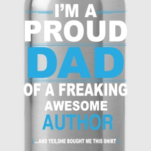 dad AUTHOR daughter T-Shirts - Water Bottle