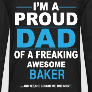dad BAKER daughter T-Shirts - Men's Premium Longsleeve Shirt