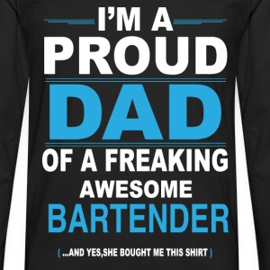 dad BARTENDER daughter T-Shirts - Men's Premium Longsleeve Shirt