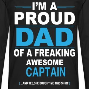 dad CAPTAIN daughter T-Shirts - Men's Premium Longsleeve Shirt