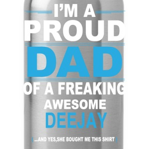 dad DEEJAY daughter T-Shirts - Water Bottle