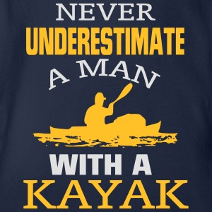 NEVER UNDERESTIMATE A MAN WITH A KAYAK! Shirts - Organic Short-sleeved Baby Bodysuit
