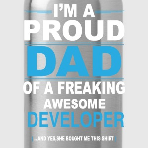 dad DEVELOPER daughter T-Shirts - Water Bottle
