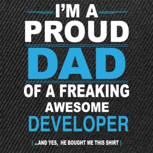 dad DEVELOPER son T-Shirts - Snapback Cap