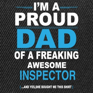 dad INSPECTOR daughter T-Shirts - Snapback Cap