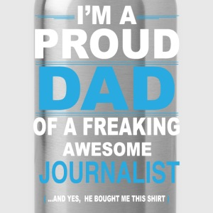 dad JOURNALIST son T-Shirts - Water Bottle