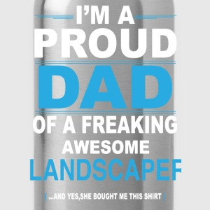 dad LANDSCAPER daughter T-Shirts - Water Bottle