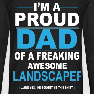 dad LANDSCAPER son T-Shirts - Men's Premium Longsleeve Shirt