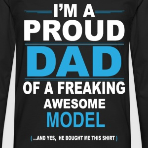 dad MODEL son T-Shirts - Men's Premium Longsleeve Shirt