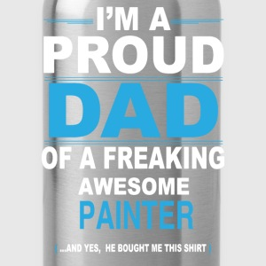 dad PAINTER son T-Shirts - Water Bottle