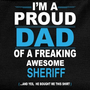 dad SHERIFF son T-Shirts - Kids' Backpack