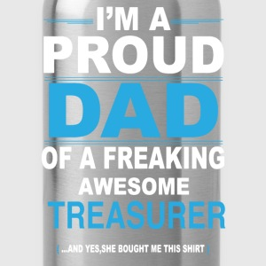 dad TREASURER daughter T-Shirts - Water Bottle