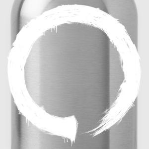 Zen Enso White T-Shirts - Water Bottle