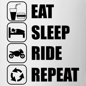 eat sleep ride Camisetas - Taza
