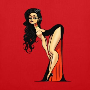 Vampire Pin-up (no bg) T-Shirts - Stoffbeutel