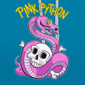Pink Python T-shirts - Contrast hoodie
