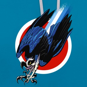 Osprey Turbo Hawk  T-Shirts - Contrast Colour Hoodie
