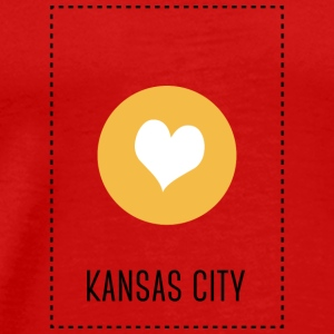 I Love Kansas City Langærmede shirts - Herre premium T-shirt