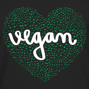 Vegan Heart T-Shirts - Men's Premium Longsleeve Shirt