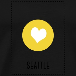 I Love Seattle Langarmede T-skjorter - Premium T-skjorte for menn