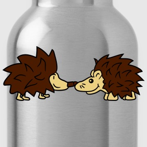 friends team few couple kissing love love nose kis T-Shirts - Water Bottle